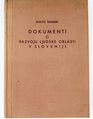 Dokumenti o razvoju ljudske oblasti v Sloveniji
